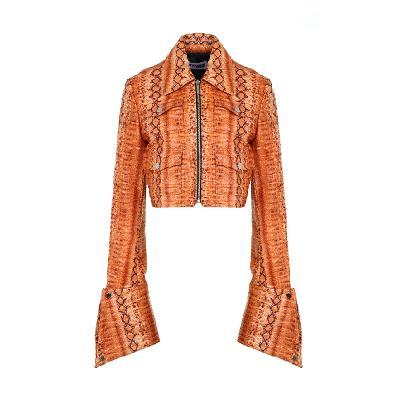 python pattern rider jacket